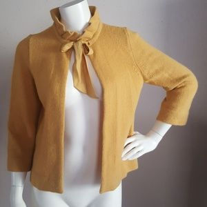 J. Crew Mustard Shrug Sweater Women Sz S Wool